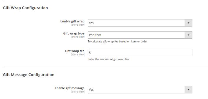 Checkout Gift Wrap