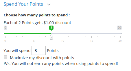 Spending Reward Points